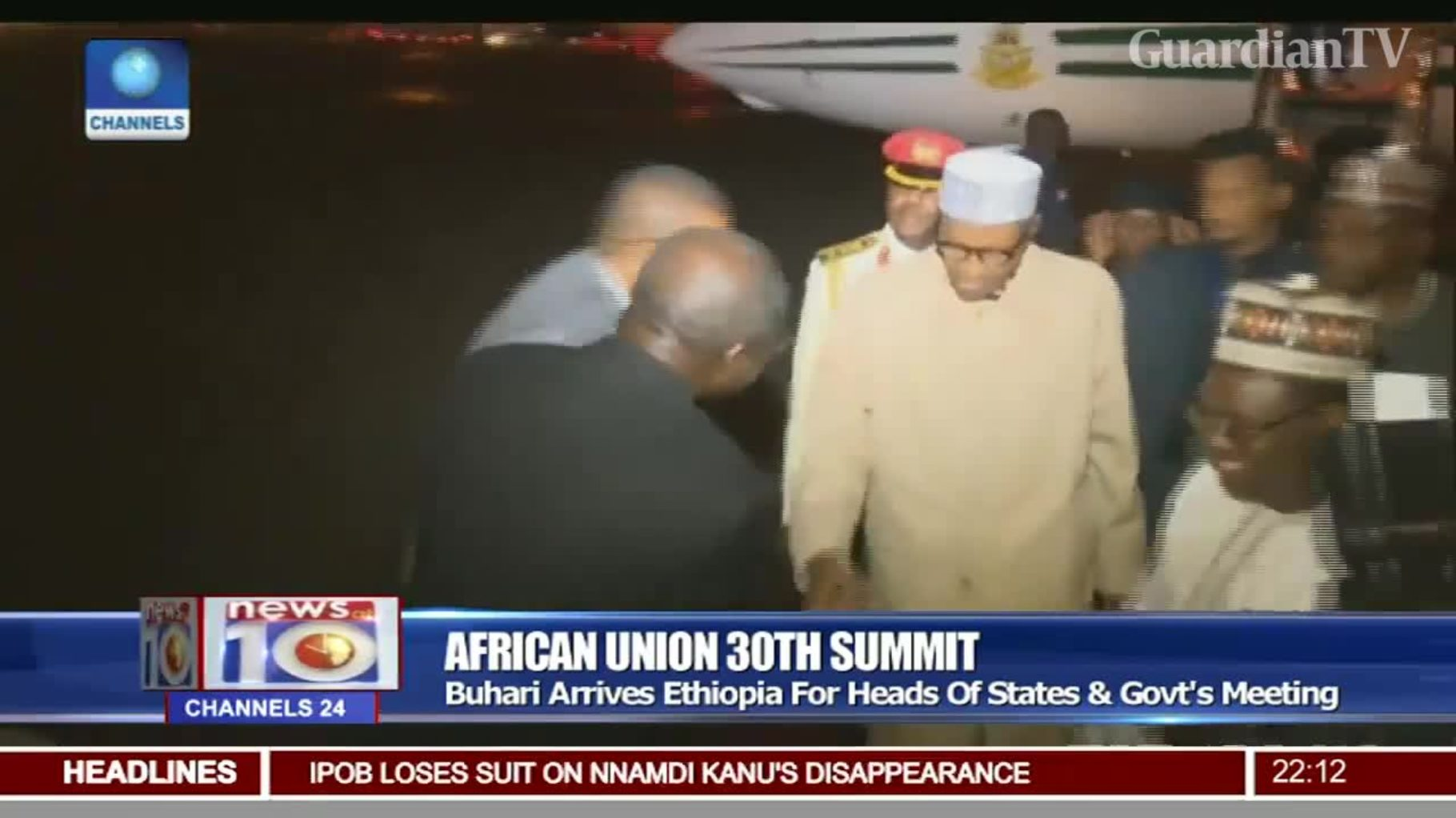 Buhari arrives Ethiopia for heads of states and government